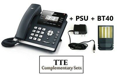 MAKE ME AN OFFER Yealink SIP-T42S Ultra-elegant GB12-Line IP Phone + PSU + BT40