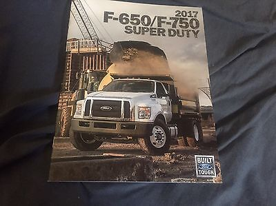 All New For 2017 Ford F650 F750 Super Duty Chassis Brochure Catalog Prospekt
