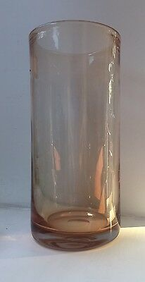 Wedgwood Glass Ronald Stennett-Willson Large Topaz Amber Vase.