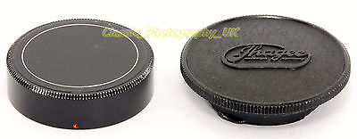 Ihagee Exakta Metal Rear Lens Cap Made in Japan + ORIGINAL Bakelite Body Cap