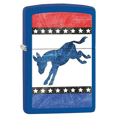 Collectable Political Democrat Donkey - Royal Blue Matte ZIPPO LIGHTER  29166