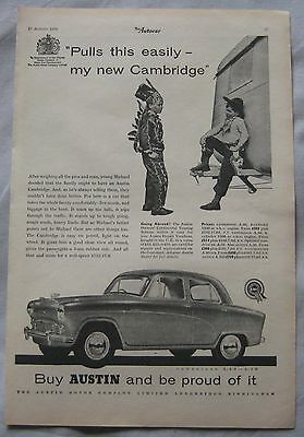 1956 Austin Cambridge Original advert