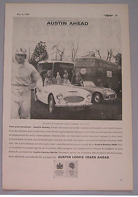 1960 Austin Healey 3000 Original advert