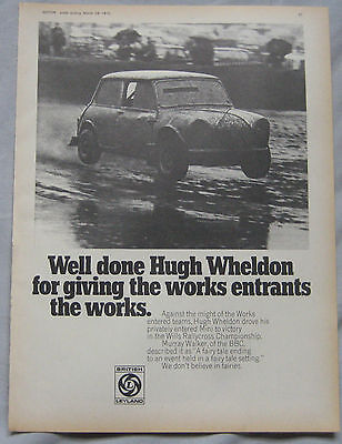 1970 British Leyland Rallycross Mini Original advert