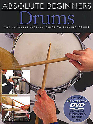 Absolute Beginners Drums Lessons Learn How to Play Music Video Book DVD Pack NEW