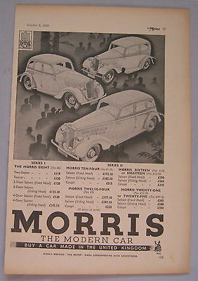 1935 Morris Original advert