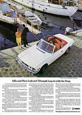 1970 Triumph Stag advert poster / print