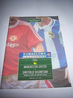 1991 RUMBELOWS (LEAGUE) CUP FINAL - MANCHESTER UNITED v SHEFFIELD WEDNESDAY