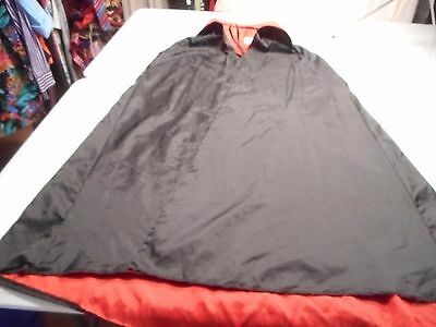 Black Dracula Cape Costume (44 Inches in length down the back) halloween
