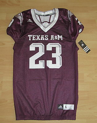 Authentic Adidas Texas A & M Aggies Van Damme #23 Football Jersey Men's Large