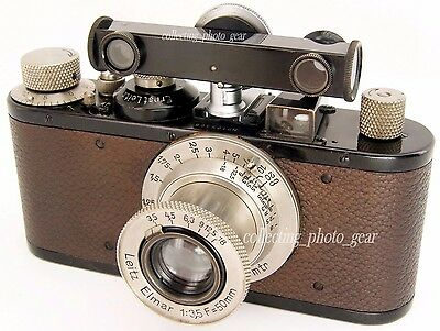 Leica HFOOK Shoe Mount Rangefinder Black Enamel CHROME Dial in Meters by LEITZ