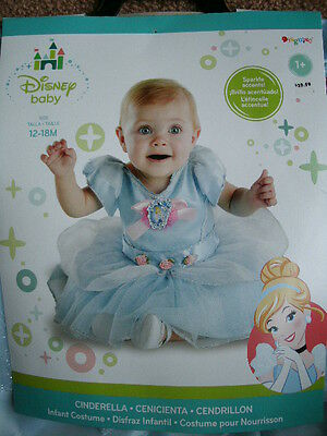BABY DISNEY DRESS UP COSTUME *CINDERELLA* infant 12-18 months NEW IN PACKAGE