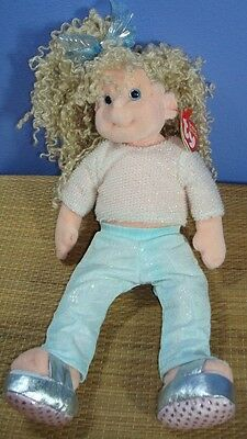 Ty Beanie Boppers SASSY STAR 2001 Stuffed Beanbag Doll Toy with Tags #PC