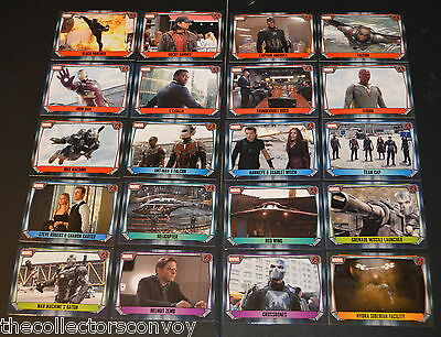 Topps MARVEL MISSIONS Trading Card Game - CAPTAIN AMERICA CIVIL WAR Movie cards