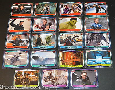 Topps MARVEL MISSIONS Trading Card Game - THE AVENGERS Movie cards