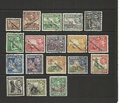 Malta ~ 1948-53 New Constitution ~ King George Vi -  Used Part Set