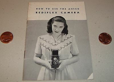 Vintage 20 page 1948 Ansco Rediflex Camera Instruction Manual Booklet Guide
