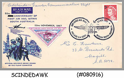 AUSTRALIA - 1957 50th ANNIVERSARY OF FIRST AIRMAIL WITHIN SOUTH AUSTRALIA SPECIA