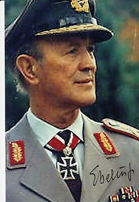 German Knights Cross WWII Grenadier Major Werner Ebeling SIGNED PHOTO AUTOGRAPH