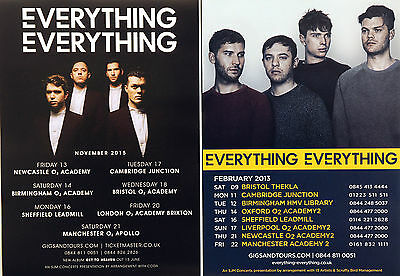4 X Everything Everything Tour Flyers  - 2015 Get To Heaven & 2014 Tour Flyers