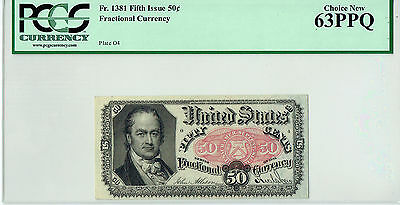 Fr. 1381 50C Fractional Currency PCGSC Choice New 63PPQ
