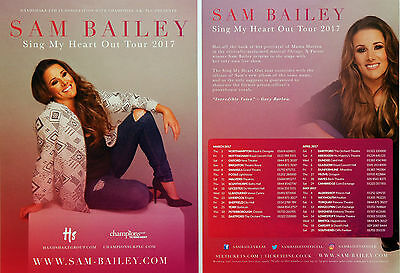 SAM BAILEY ( X Factor ) SING YOUR HEART OUT 2017 TOUR FLYERS X 3