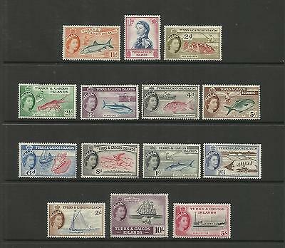 Turks & Caicos ~ 1957 Qe Ii  Definitives (Mint Set Mh)