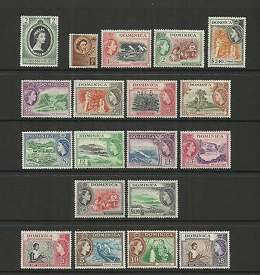 Dominica ~ 1953-1957 Queen Elizabeth Ii Definitives (Part Set)