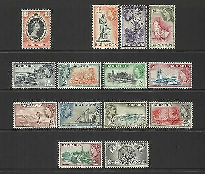 Barbados ~ 1953 Coronation & Definitives Qe Ii (Set)
