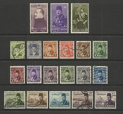 Egypt ~ 1940-44 King Faud & King Farouk (Small Collection)