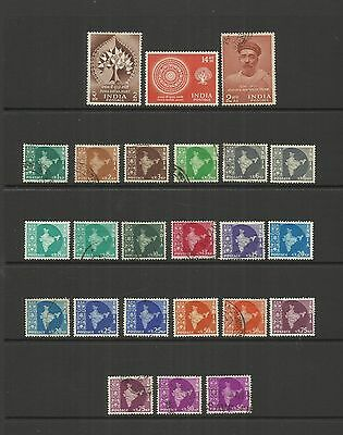 Republic Of India ~ 1956 - 1962 (Near Complete Issues - Mint & Used)