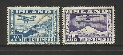 Iceland ~ 1934 Air Mail (Part Used Set)