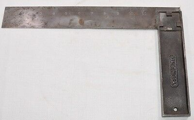 """Vintage 12"""" Stanley No. 12 Steel Try Square (INV D486)"""