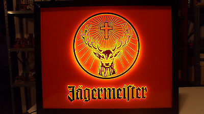 Beautiful Jagermeister Whiskey Beer Lighted Sign Stag/deer Logo New In Box Mint
