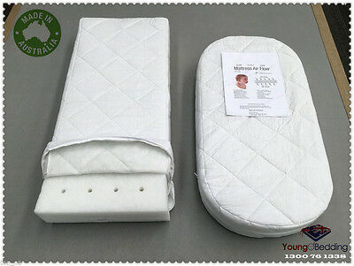AU made Premium Rectangle Baby Cradle Bassinet Cotton Mattress