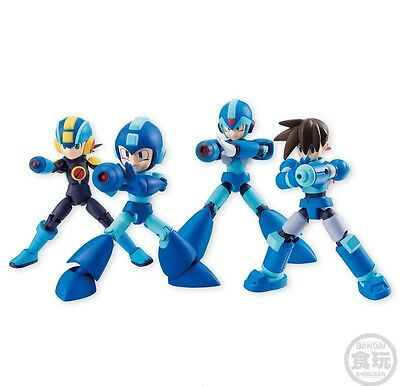 Megaman Rockman 66 action Dash X Battle Network Classic 4 figure set Bandai