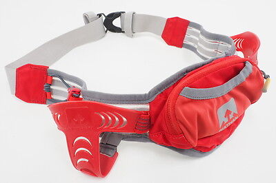 Nathan Running Waterbottle Belt One Size Fits Most 2 Bottle Capacity (Red/Gray)