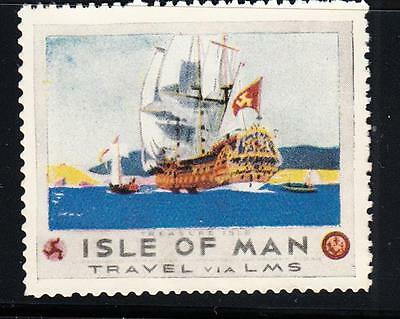 LMS RAILWAY POSTER STAMP : Isle of Man