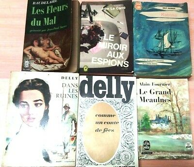 LOT DE 6 LIVRES - Romans