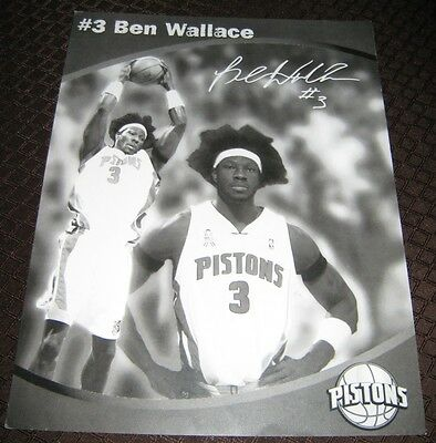 Ben Wallace #3 Pistons Printed Autograph card