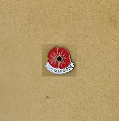 We Remember. Remembers Day of Canada Poppy Old Laple Pin