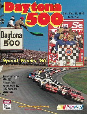 Daytona 500 NASCAR Formula 1 Speed Weeks '86 Daytona Beach, FL Official Program