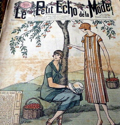 *VTG 1920s PARIS FASHION & SEWING PATTERN CATALOG LE PETIT ECHO de la MODE 1925