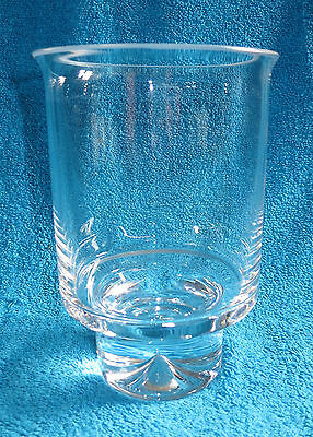 Dartington Crystal Dimple 6.75 Inch Tall Candle Holder Ft 143 Bbq Candle Holder