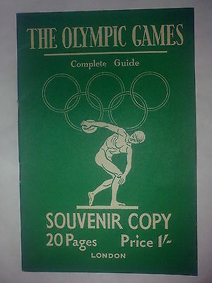 """1948 London Olympics - """"The Complete Guide"""" - Programme In VG Condition"""