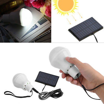 Portable Solar Powered 12 LED Rechargeable Bulb Light Outdoor Camping Yard Lamp
