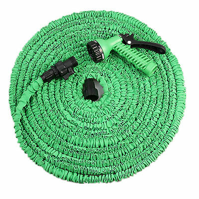 New 50ft /100ft Garden Flexible Hose Pipe with Multifunction Water Spray Gun