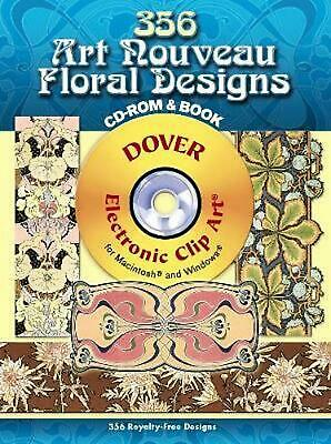356 Art Nouveau Floral Designs [With CDROM] by Julius Hoffmann (English) Paperba