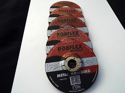 """Metal Grinding Discs - 5 PIECES - 4"""" or 100mm x 6mm thick x 16mm Bore - NEW"""