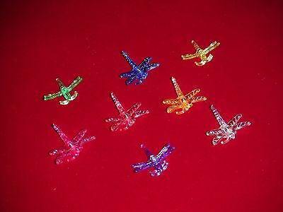 X32 dragonfly orchid nursery plant clips decorative medium supports 8 colors